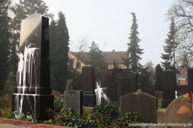 Schändung des jüdischen Friedhofes im Jahr 2011