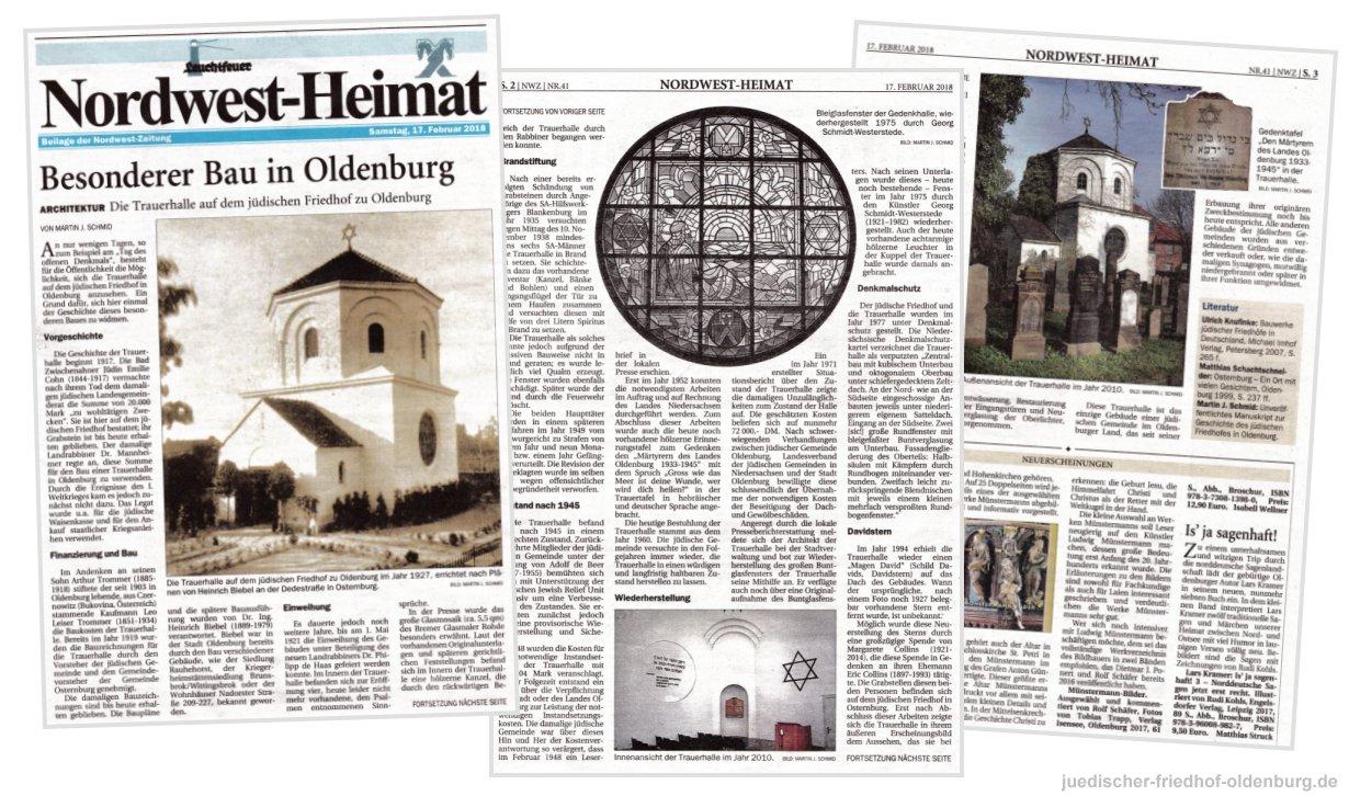 Nordwest-Heimat, Beilage der Nordwest-Zeitung, 17. Februar 2018