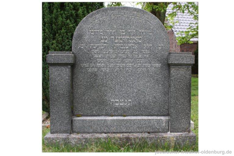 Grabstein für Landrabbiner Dr. David Mannheimer